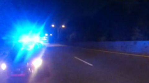 Body camera footage released by the Atlanta Police Department shows the moment a drunk driver plowed into a police car, injuring an officer.