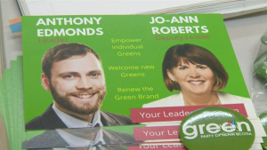 Anthony Edmonds, an aerospace engineer who lives in Halifax has been elected as the new leader of the Nova Scotia Green Party.