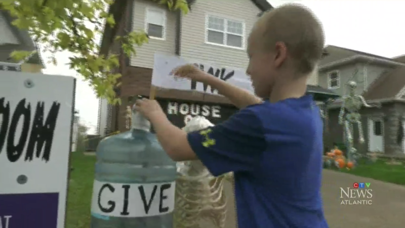 An 11-year-old boy in Dartmouth, N.S. is raising funds for the IWK by creating a haunted house with his family.