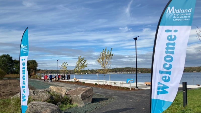 A demonstration was held in Midland for future plans for the waterfront on Saturday, October 23 (Chris Garry/CTV News)
