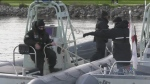 Navy training in Barrie