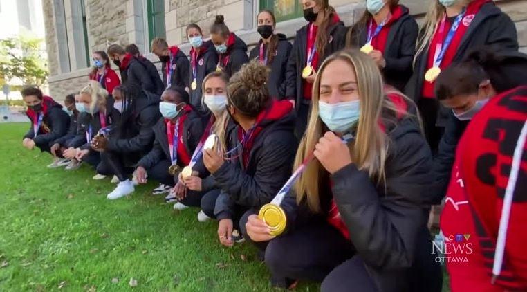 Canada's Women's Soccer team kicks off Celebration