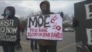 Opposing COVID-19 demonstrations