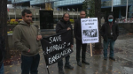 Calgary's Hindu community gathered to protest attacks against Hindus in Bangladesh.
