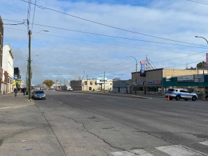 Part of Main Street closed to traffic because on building fire on Oct. 24 (Zachary Kitchen, CTV News)