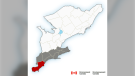 A rainfall warning is in effect for Windsor-Essex and Chatham-Kent, Oct. 24, 2021. (Source: Environment Canada)