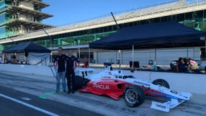 University of Waterloo students Brian Mao and Ben Zhang race fully autonomous car at Indy Motor Speedway