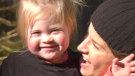 Ruby Cordua (left) and her mother, Ashley Cordua (right) of Rockin' it with Ruby non-profit charity in Springwater, Ont., on Sunday, October 24 (Steve Mansbridge/CTV News)