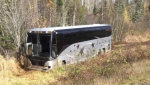 In a statement, the Maritime Junior Hockey League confirmed that the bus involved was carrying players and staff with the Miramichi Timberwolves. (Photo via Facebook / Scott Wood)