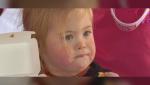 Ruby Cordua, 2 years old, in Springwater, Ont., on Sunday, October 24 (Steve Mansbridge/CTV News)