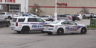 London police are investigating after the robbery of a Canadian Tire and gas bar in east London, Oct. 24, 2021. (Gerry Dewan / CTV News)
