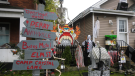 For nearby neighbours along Albert street, the home of Lee Matthews has become the destination for fright seekers and trick-or-treaters over the last two years. Oct.24/21 (Christian D'Avino/CTV News Northern Ontario)