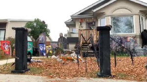 An online Halloween Home map shows locations of Winnipeg's most decorated houses