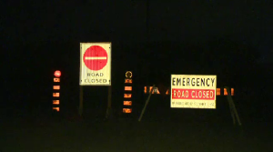 Line 86 in Woolwich Township closed for a crash investigation. (Adam Marsh/CTV Kitchener) (Oct. 25, 2021)