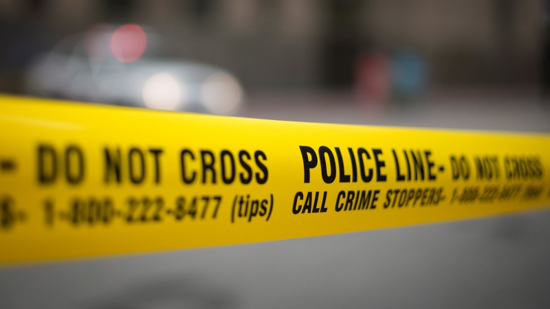 Police tape is shown in Toronto Tuesday, May 2, 2107. THE CANADIAN PRESS/Graeme Roy