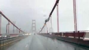 Winds whistle through the Golden Gate Bridge