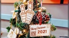 """With his line of Christmas ornaments, Roby Yueng was inspired by the """"new normal"""" brought about by the province's vaccine campaign - namely the constant use of QR codes. (Source: Erlenmeyer Designs)"""