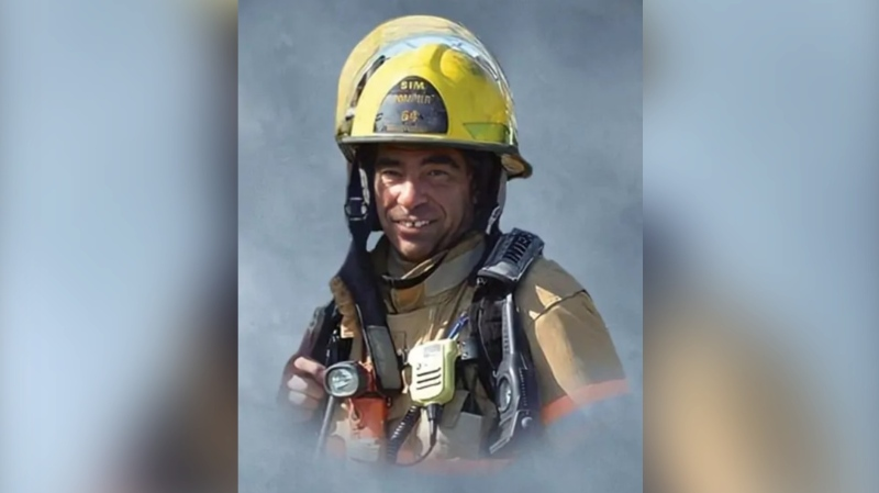 Firefighter Pierre Lacroix died during a rescue operation on the St. Lawrence River. (photo: Résidence funéraire J.J. Cardinal)