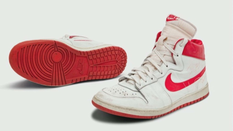 Michael Jordan game-worn shoes sell