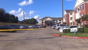 Three siblings appear to have been abandoned in a Houston-area apartment where the skeletal remains of another child were found, a sheriff said.