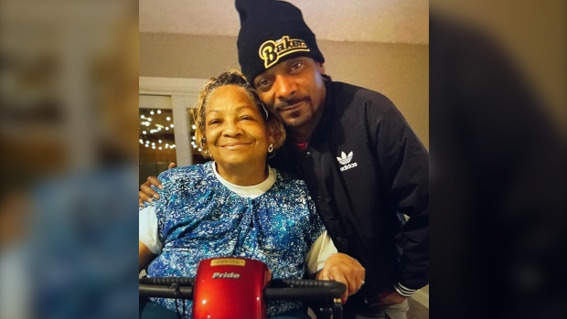 Snoop Dogg shared a photo of himself and his mom to Instagram with the caption. (Snoop Dogg/Instagram via CNN)