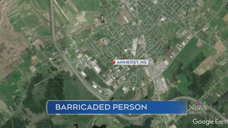 N.S. RCMP respond to barricaded person in Amherst