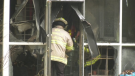 New Tecumseth Fire and Rescue attend a structure fire in Tottenham, Ont., on Monday, October 25 (Kraig Krause/CTV News)
