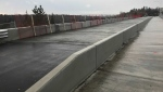 Temporary fencing has been installed on an east Edmonton bridge after local residents expressed concerns over a low barrier. (Matt Marshall/CTV News Edmonton)