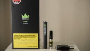 A vape kit, available for authorized retailers, is displayed at the Ontario Cannabis Store in Toronto on January 3, 2020. THE CANADIAN PRESS/Tijana Martin