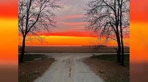 Sunset over Anola. Photo by Tammy Charles.