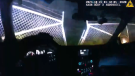 Officer smashes through gate, rescues motorist