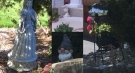 Garden ornaments stolen from a home Brant Street in Simcoe, Ont. are seen in these images released by Norfolk County OPP.