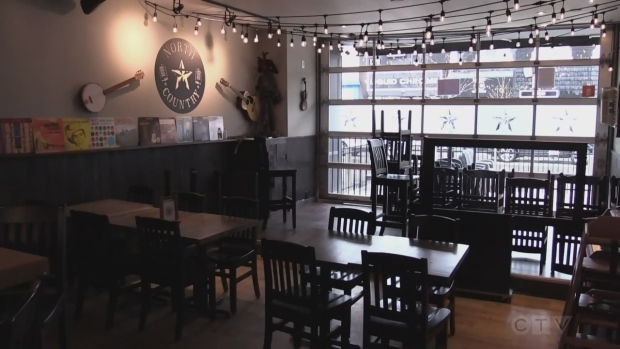 North Country restaurant in Barrie, Ont., resumes full capacity operations on Mon., Oct. 25, 2021 (Mike Arsalides/CTV News)