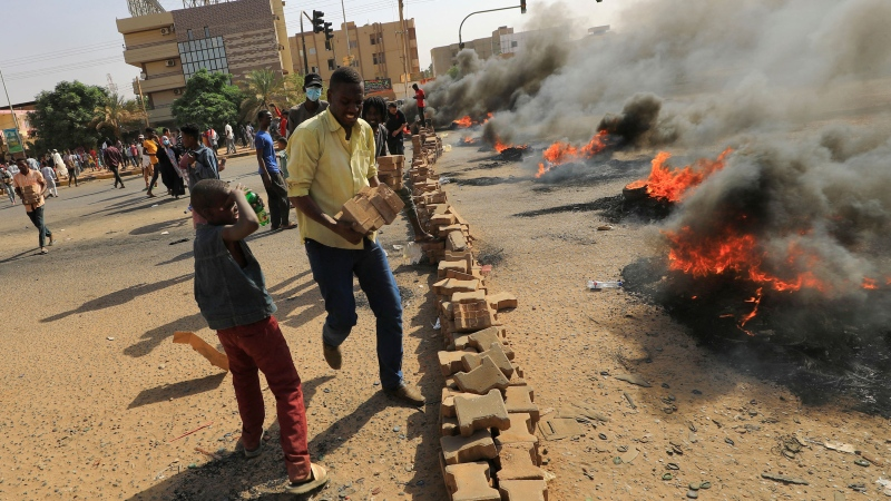 Sudan has descended into crisis after the military dissolved the country's power-sharing government and declared a state of emergency on Monday. (AFP/Getty Images)