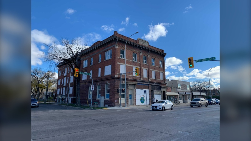 The Rubin Block was built in 1914 and designed by Winnipeg architect Max Zev Blankstein, who designed a number of buildings in the city in the early 1900s, including the Uptown Theatre. (Image Source: Jamie Dowsett/CTV News Winnipeg)