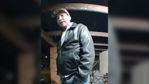 Grande Prairie RCMP are looking for this man whose images were captured by a surveillance camera during a shooting incident on Oct. 12. (Image source: RCMP)