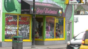 The Gags Unlimited building on Osborne Street, pictured on Oct. 22, 2021. (Source: Glenn Pismenny/ CTV News Winnipeg)