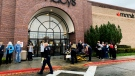 Police and emergency crews respond to a reported shooting at the Boise Towne Square shopping mall Monday, Oct. 25, 2021, in Boise, Idaho. (Darin Oswald/Idaho Statesman via AP)