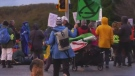 Climate activists block road to Vancouver airport
