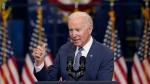"U.S. President Joe Biden delivers remarks at NJ Transit Meadowlands Maintenance Complex to promote his ""Build Back Better"" agenda, Monday, Oct. 25, 2021, in Kearny, N.J. (AP Photo/Evan Vucci)"