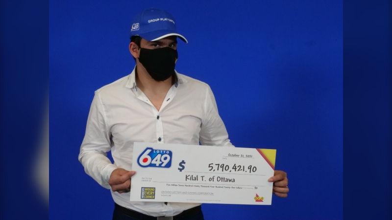 Kilal Taha, 21, of Ottawa, won $5.7 million Lotto 6/49 prize. (OLG)
