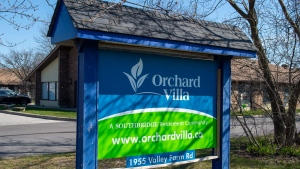 Orchard Villa care home is shown in Pickering, Ont. on Monday April 27, 2020.  THE CANADIAN PRESS/Frank Gunn