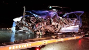 One person was injured in a Cambridge crash (Supplied: WRPS)