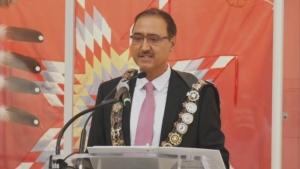 Amarjeet Sohi was sworn in as Edmonton's 36th mayor on Tuesday, Oct. 26, 2021.