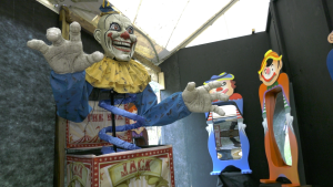 A prop from Extreme Fear Hauntings at the Cardinal, Ont, KOA campground. (Nate Vandermeer/CTV News Ottawa)