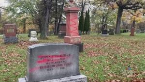 Headstones vandalized at Trenton cemeteries