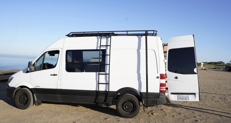 Aren Page of California built a solar-powered van as a DIY project. (Source: Aren Page)