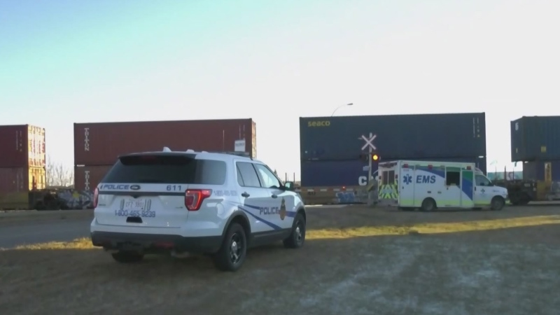 Pedestrian who tried to outrun train in hospital