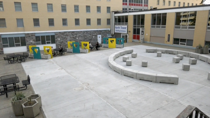 A respite area was created for staff at Foothills hospital and fundraising is ongoing to build similar areas at three other medical centres in Calgary.