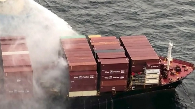 Islanders expect to see cargo lost from ship